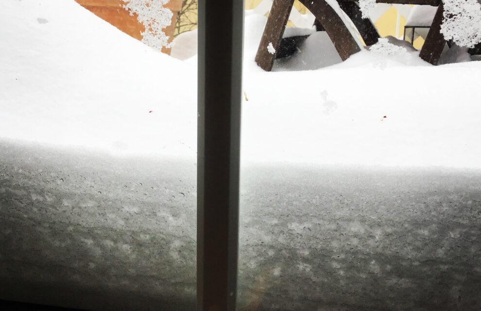 Unser Außenbüro versinkt im Schnee!